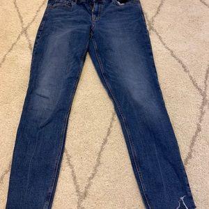 Old Navy Fringe Bottom Rockstar Skinny Jeans